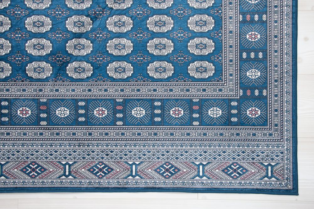 New Bokhara Silk Blue 133x190