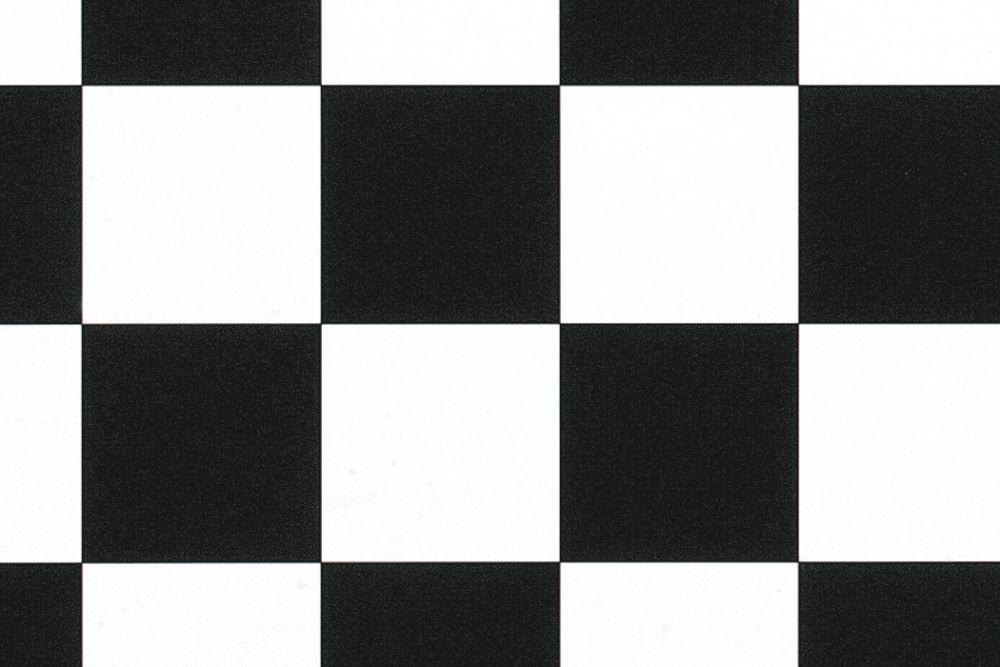 Comfort Vinyl sort/hvit rute