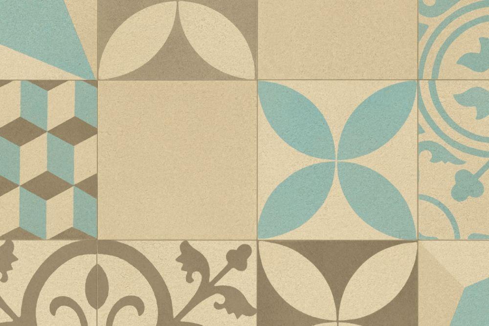 Marrakech brun/beige/blå
